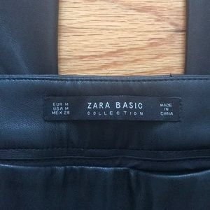 Zara Pants & Jumpsuits - Zara Faux Leather Cropped Trousers